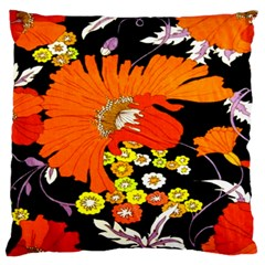 70s Flower Print Standard Flano Cushion Case (two Sides) by TCH01