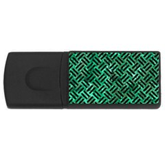 Woven2 Black Marble & Green Marble (r) Usb Flash Drive Rectangular (4 Gb) by trendistuff