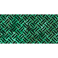 Woven2 Black Marble & Green Marble (r) You Are Invited 3d Greeting Card (8x4) by trendistuff