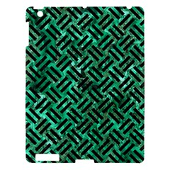 Woven2 Black Marble & Green Marble (r) Apple Ipad 3/4 Hardshell Case by trendistuff