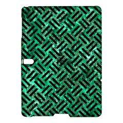 Woven2 Black Marble & Green Marble (r) Samsung Galaxy Tab S (10 5 ) Hardshell Case  by trendistuff