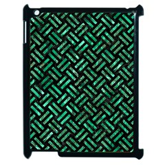 Woven2 Black Marble & Green Marble Apple Ipad 2 Case (black) by trendistuff