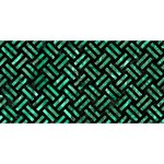 WOVEN2 BLACK MARBLE & GREEN MARBLE #1 MOM 3D Greeting Cards (8x4) Back