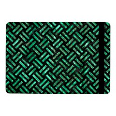 Woven2 Black Marble & Green Marble Samsung Galaxy Tab Pro 10 1  Flip Case by trendistuff