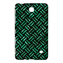 Woven2 Black Marble & Green Marble Samsung Galaxy Tab 4 (8 ) Hardshell Case
