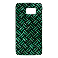 Woven2 Black Marble & Green Marble Samsung Galaxy S6 Hardshell Case  by trendistuff