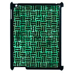 Woven1 Black Marble & Green Marble (r) Apple Ipad 2 Case (black) by trendistuff