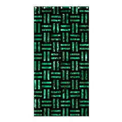 Woven1 Black Marble & Green Marble Shower Curtain 36  X 72  (stall) by trendistuff