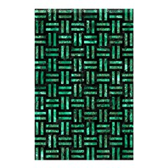 Woven1 Black Marble & Green Marble Shower Curtain 48  X 72  (small) by trendistuff