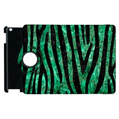 Skin4 Black Marble & Green Marble Apple Ipad 3/4 Flip 360 Case by trendistuff