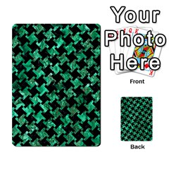 Houndstooth2 Black Marble & Green Marble Multi Purpose Cards (rectangle) by trendistuff