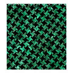 Houndstooth2 Black Marble & Green Marble Shower Curtain 66  X 72  (large) by trendistuff
