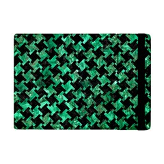 Houndstooth2 Black Marble & Green Marble Apple Ipad Mini 2 Flip Case by trendistuff