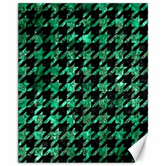 Houndstooth1 Black Marble & Green Marble Canvas 11  X 14  by trendistuff