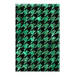 Houndstooth1 Black Marble & Green Marble Shower Curtain 48  X 72  (small) by trendistuff