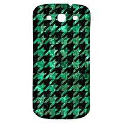 Houndstooth1 Black Marble & Green Marble Samsung Galaxy S3 S Iii Classic Hardshell Back Case by trendistuff