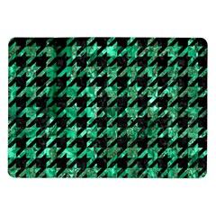 Houndstooth1 Black Marble & Green Marble Samsung Galaxy Tab 10 1  P7500 Flip Case by trendistuff
