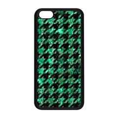 Houndstooth1 Black Marble & Green Marble Apple Iphone 5c Seamless Case (black) by trendistuff