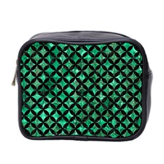Circles3 Black Marble & Green Marble (r) Mini Toiletries Bag (two Sides) by trendistuff