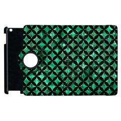 Circles3 Black Marble & Green Marble (r) Apple Ipad 3/4 Flip 360 Case by trendistuff