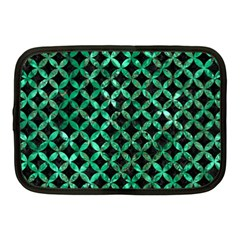 Circles3 Black Marble & Green Marble Netbook Case (medium) by trendistuff