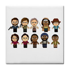 The Walking Dead   Main Characters Chibi   Amc Walking Dead   Manga Dead Tile Coasters by PTsImaginarium