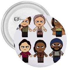 The Walking Dead   Main Characters Chibi   Amc Walking Dead   Manga Dead 3  Buttons by PTsImaginarium