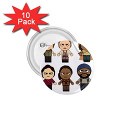 The Walking Dead   Main Characters Chibi   Amc Walking Dead   Manga Dead 1 75  Buttons (10 Pack) by PTsImaginarium