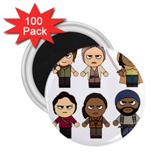 The Walking Dead   Main Characters Chibi   Amc Walking Dead   Manga Dead 2 25  Magnets (100 Pack)  by PTsImaginarium