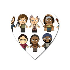 The Walking Dead   Main Characters Chibi   Amc Walking Dead   Manga Dead Heart Magnet by PTsImaginarium