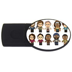 The Walking Dead   Main Characters Chibi   Amc Walking Dead   Manga Dead Usb Flash Drive Oval (2 Gb)  by PTsImaginarium