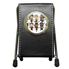 The Walking Dead   Main Characters Chibi   Amc Walking Dead   Manga Dead Pen Holder Desk Clocks by PTsImaginarium