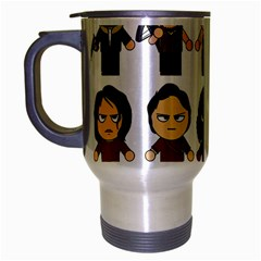 The Walking Dead   Main Characters Chibi   Amc Walking Dead   Manga Dead Travel Mug (silver Gray) by PTsImaginarium