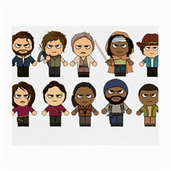 The Walking Dead   Main Characters Chibi   Amc Walking Dead   Manga Dead Small Glasses Cloth by PTsImaginarium