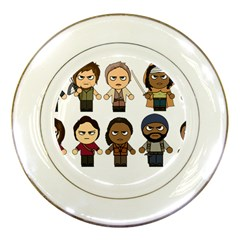 The Walking Dead   Main Characters Chibi   Amc Walking Dead   Manga Dead Porcelain Plates by PTsImaginarium