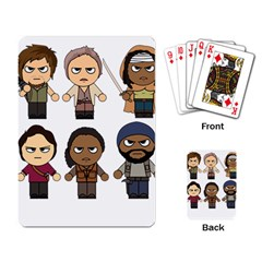 The Walking Dead   Main Characters Chibi   Amc Walking Dead   Manga Dead Playing Card