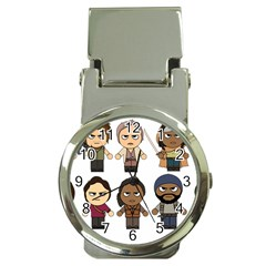 The Walking Dead   Main Characters Chibi   Amc Walking Dead   Manga Dead Money Clip Watches by PTsImaginarium