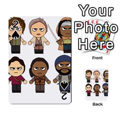 The Walking Dead   Main Characters Chibi   Amc Walking Dead   Manga Dead Playing Cards 54 Designs