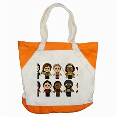 The Walking Dead   Main Characters Chibi   Amc Walking Dead   Manga Dead Accent Tote Bag by PTsImaginarium