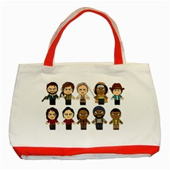 The Walking Dead   Main Characters Chibi   Amc Walking Dead   Manga Dead Classic Tote Bag (red) by PTsImaginarium