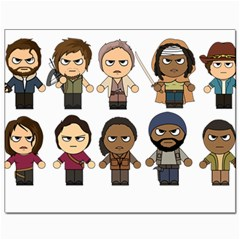 The Walking Dead   Main Characters Chibi   Amc Walking Dead   Manga Dead Canvas 8  X 10  by PTsImaginarium