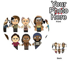 The Walking Dead   Main Characters Chibi   Amc Walking Dead   Manga Dead Playing Cards 54 (heart)  by PTsImaginarium