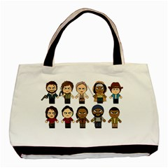 The Walking Dead   Main Characters Chibi   Amc Walking Dead   Manga Dead Basic Tote Bag (two Sides) by PTsImaginarium