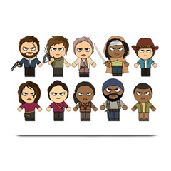 The Walking Dead   Main Characters Chibi   Amc Walking Dead   Manga Dead Plate Mats by PTsImaginarium