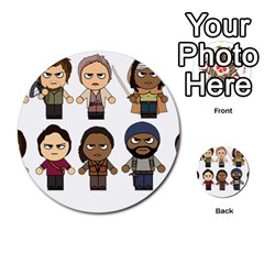 The Walking Dead   Main Characters Chibi   Amc Walking Dead   Manga Dead Multi Purpose Cards (round)  by PTsImaginarium