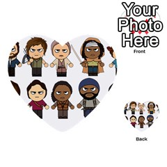 The Walking Dead   Main Characters Chibi   Amc Walking Dead   Manga Dead Multi Purpose Cards (heart)  by PTsImaginarium