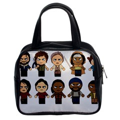 The Walking Dead   Main Characters Chibi   Amc Walking Dead   Manga Dead Classic Handbags (2 Sides) by PTsImaginarium