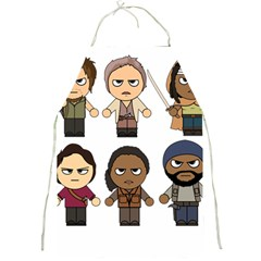 The Walking Dead   Main Characters Chibi   Amc Walking Dead   Manga Dead Full Print Aprons by PTsImaginarium