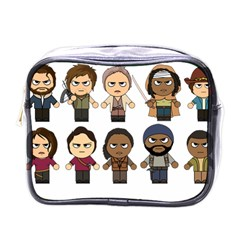The Walking Dead   Main Characters Chibi   Amc Walking Dead   Manga Dead Mini Toiletries Bags by PTsImaginarium