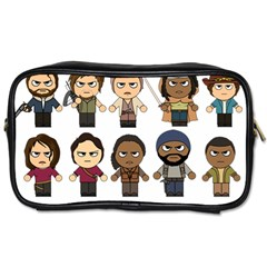 The Walking Dead   Main Characters Chibi   Amc Walking Dead   Manga Dead Toiletries Bags by PTsImaginarium